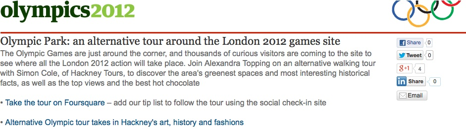 Guardian-featured Hackney Tours