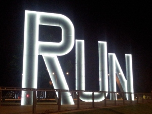 By day - or by night. Let's run and discover places like the Olympic Park.