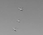Helicopters often patrolled singly, but sometimes in formation when they were deployed on border exercises.