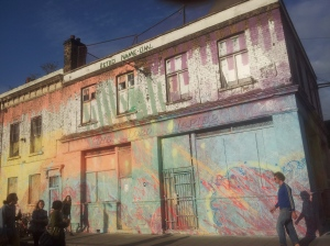 East London is always colourful.