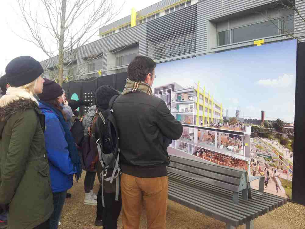 Walkers inspect Here East future pic Hackney Wick small