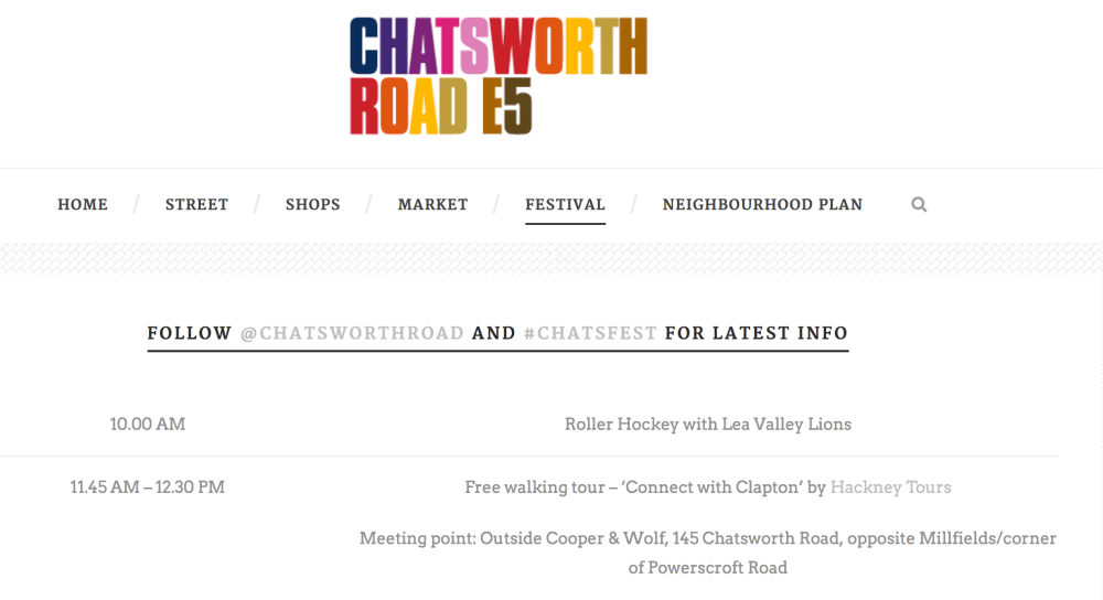 An exploratory walk and guided tour of Clapton with Hackney Tours: 11.45am Sat 4th from Cooper & Wolf