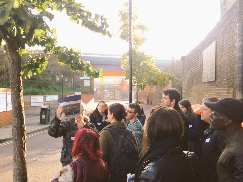 Hackney Tours giving Echoes tour