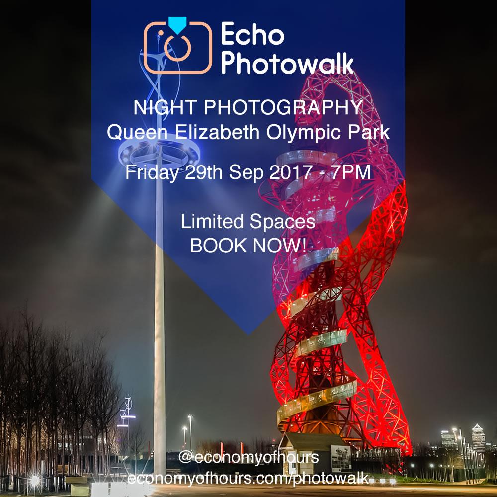 Echo night time photography walk with Frank Da Silva. Good stuff!