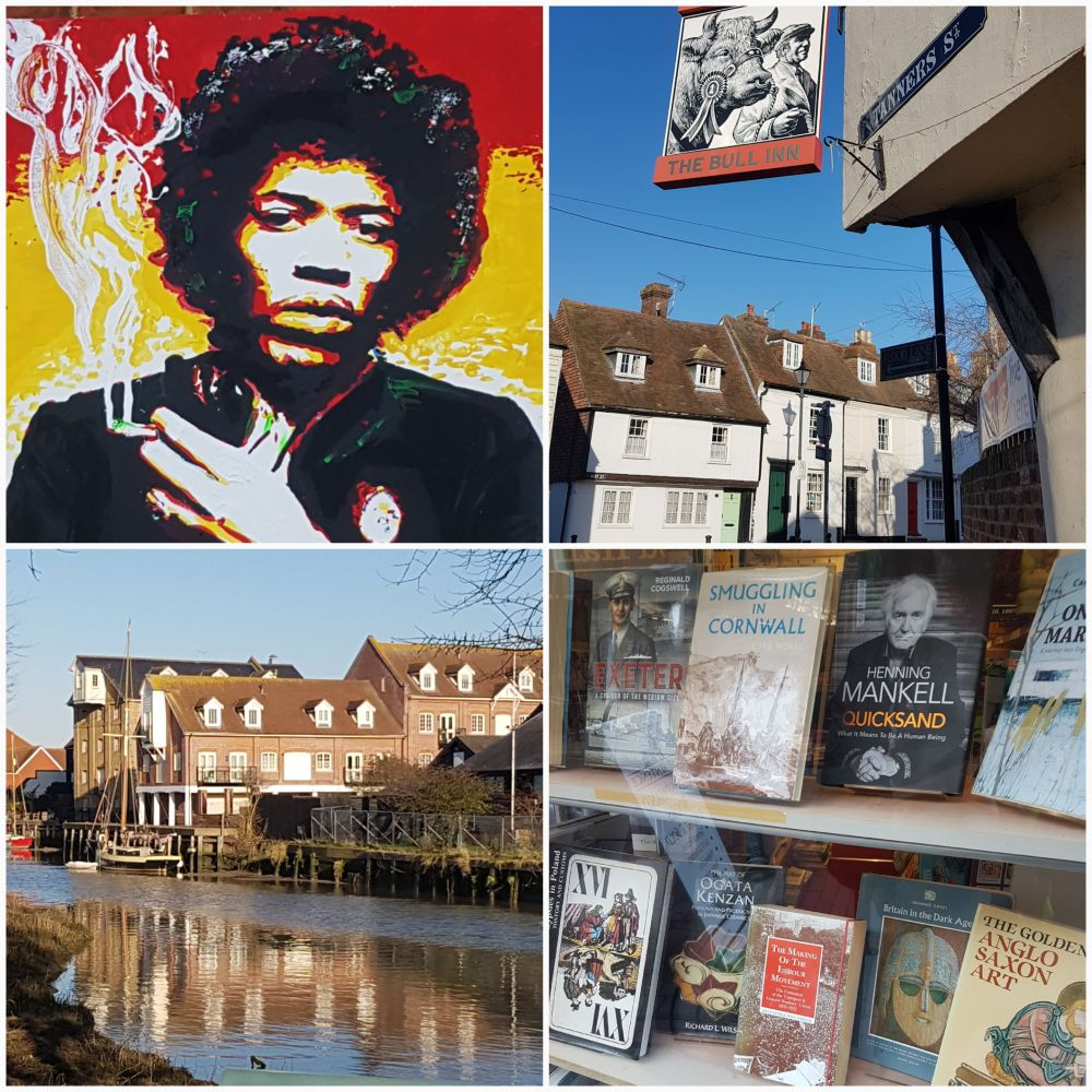 Faversham HDH collage Hendrix books
