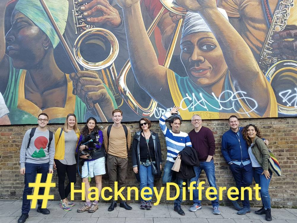 American School in London at Dalston Peace Mural hashtag Hackney Different